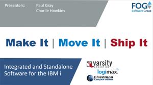 Title slide Make - Move - Ship